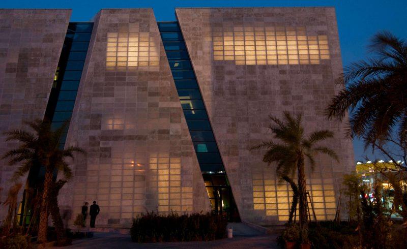 Exemple de bâtiment architectural en béton translucide, le pavillon italien de l'exposition universelle de Shanghai
