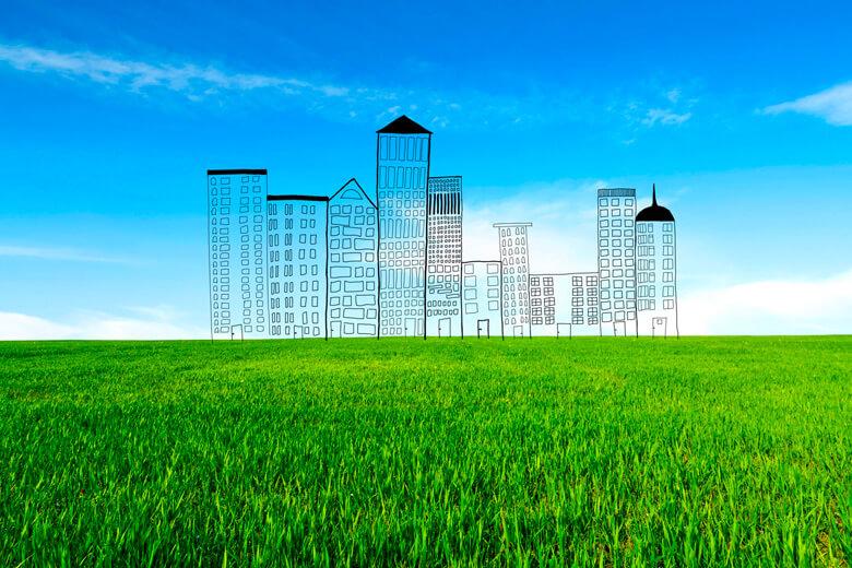 béton dans les villes du futur