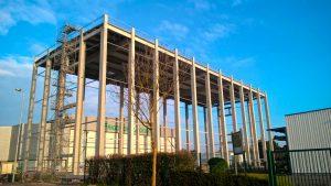À Montigny-en-Gohelle (62), Frigonor a fait construire un bâtiment de stockage en béton aux volumes impressionnants ©kp1