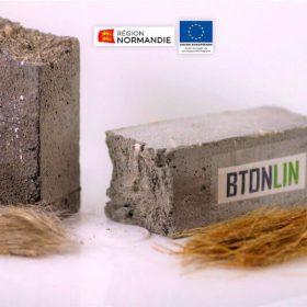 Du lin pour un béton biosourcé et structurel ©ESITC-Caen
