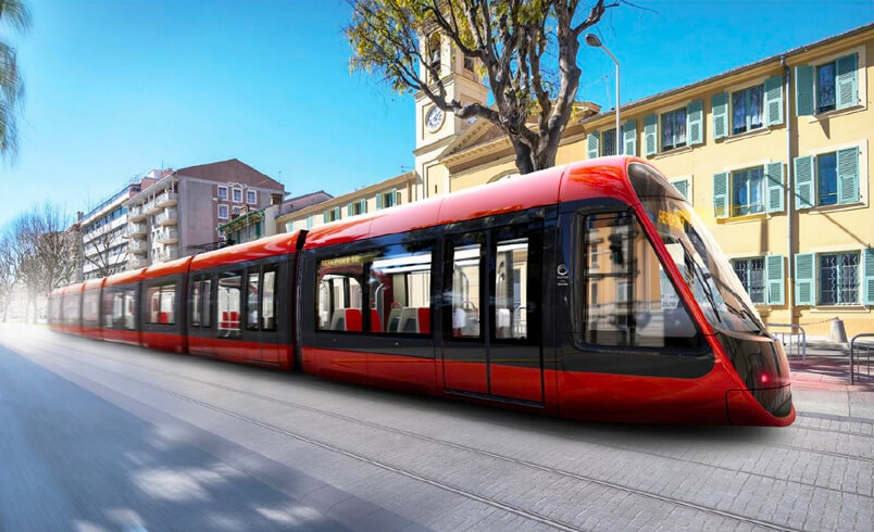 Tramway de Nice ©Métropole Nice Côte d'Azur – ESSIA – ENODO