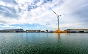 Éolienne flottante à Saint-Nazaire ©Ideol / BYTP / ECN / Myphotoagency