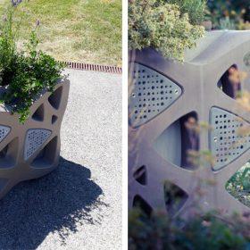 Jardinières en béton ©DR