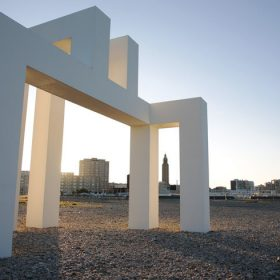 Sculpture monumentale UP#3 au Havre © Philippe Bréard