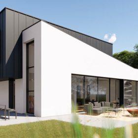 Maison individuelle : construire E+C- avec du béton bas carbone ©DR
