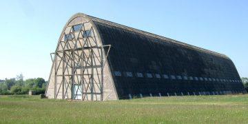 Un hangar centenaire, à la charpente en béton