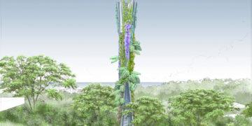 Des pylônes en béton intégrés au paysage
